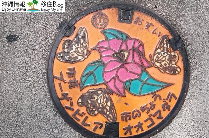 蝶と花のコラボマンホール