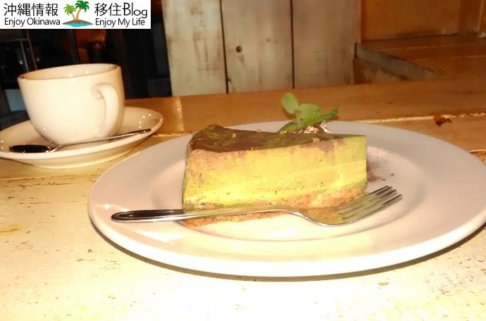 抹茶とココアのマーブルベークドチーズケーキ