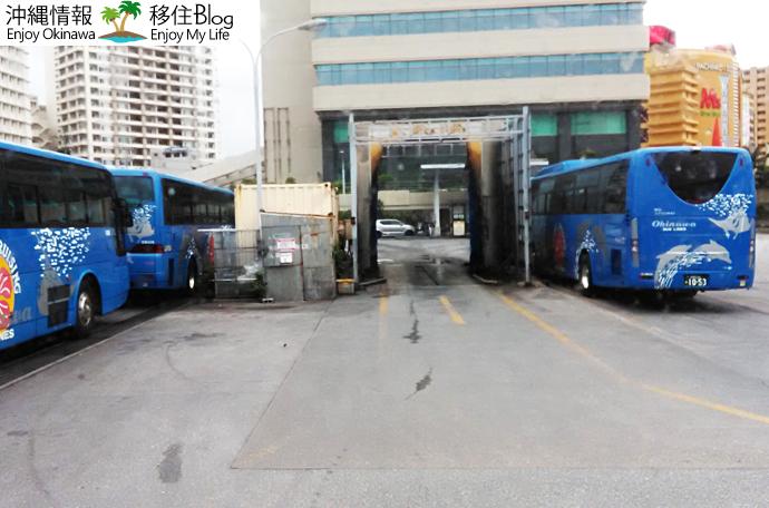 バスの洗車