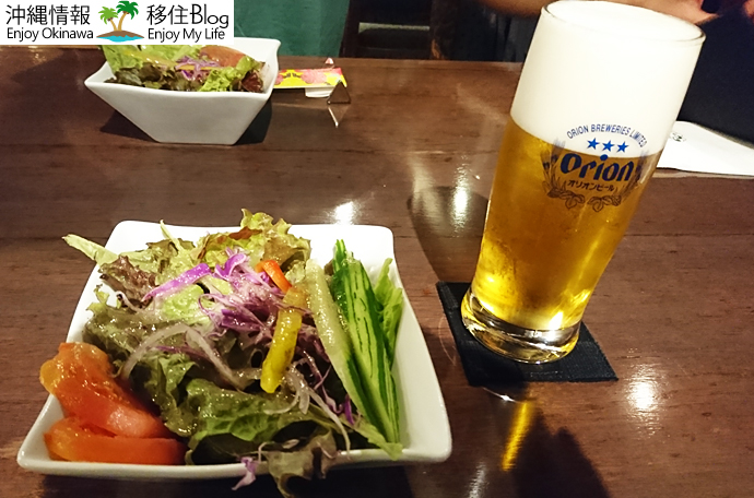 ステーキハウス HOPEの新鮮野菜サラダ