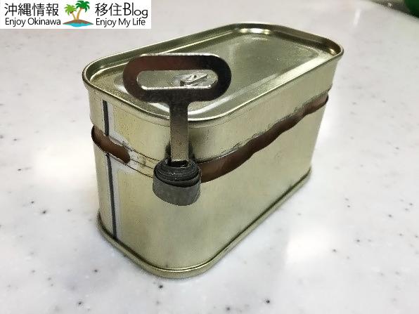 ポーク缶の開け方