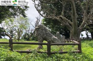 冨盛の石彫大獅子