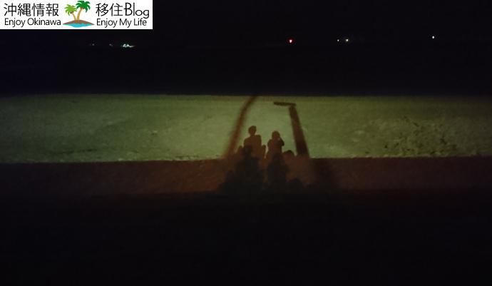 夜のパイナガマビーチ