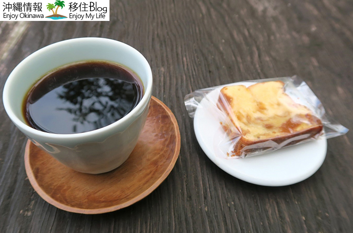 ホットコーヒーとパウンドケーキ